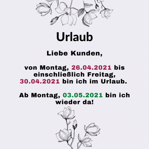 Urlaub April 2021